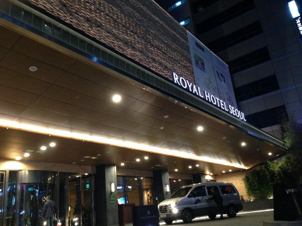 韓国のロイヤルホテルソウル