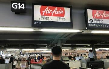 エアアジアでクアラルンプールへ