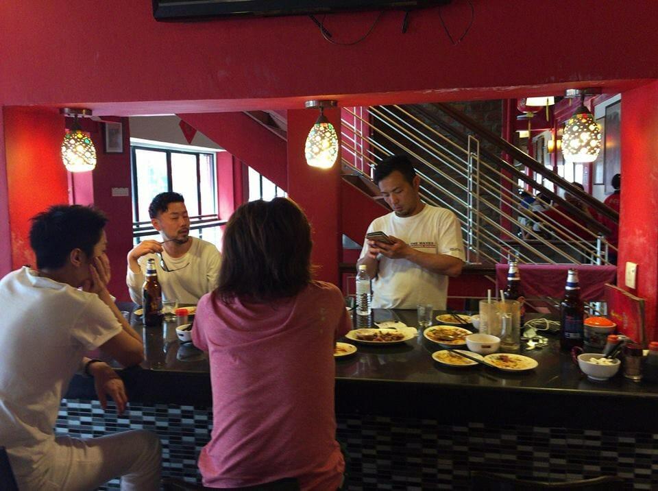 チャイナタウンの中華料理屋