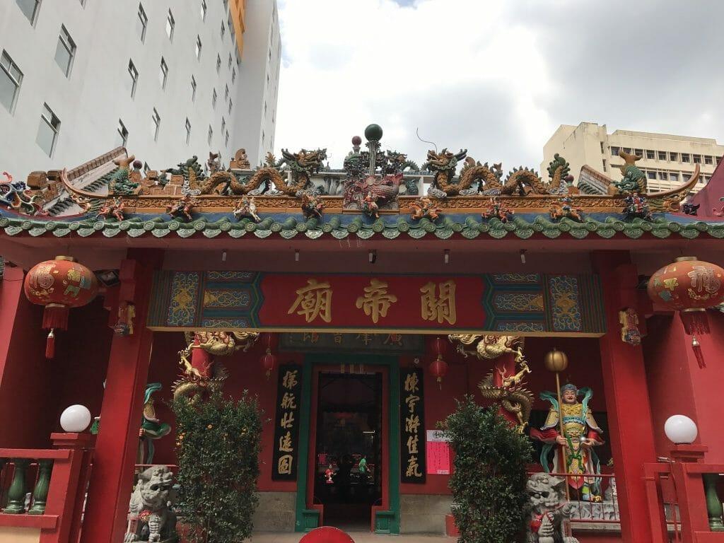 チャイナタウンの関帝廟