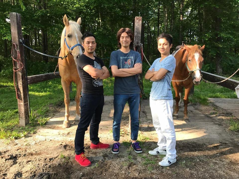 三武将で乗馬体験