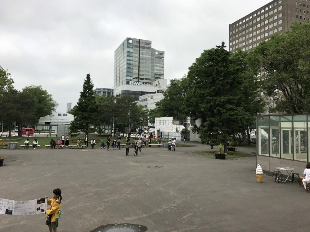テレビ塔周りの公園
